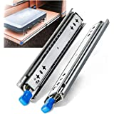 YENUO Heavy Duty Drawer Slides 20 Inch with Lock Three Sections Ball Bearing Full Extension Drawer Sliding Rails Side Mount 2