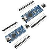 KKHMF 2個 Mini USB Nano V3.0 ATmega328P CH340G 5V 16M マイクロコントローラーボード モジュールArduinoと互換 「国内配送」