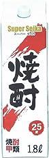 東亜酒造 甲類焼酎 スーパーセイカ 25度 パック 1800ml