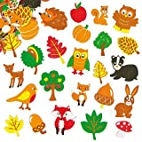 Woodland Friends Foam Stickers for Children to Decorate Cards and Crafts (Pack of 100)
