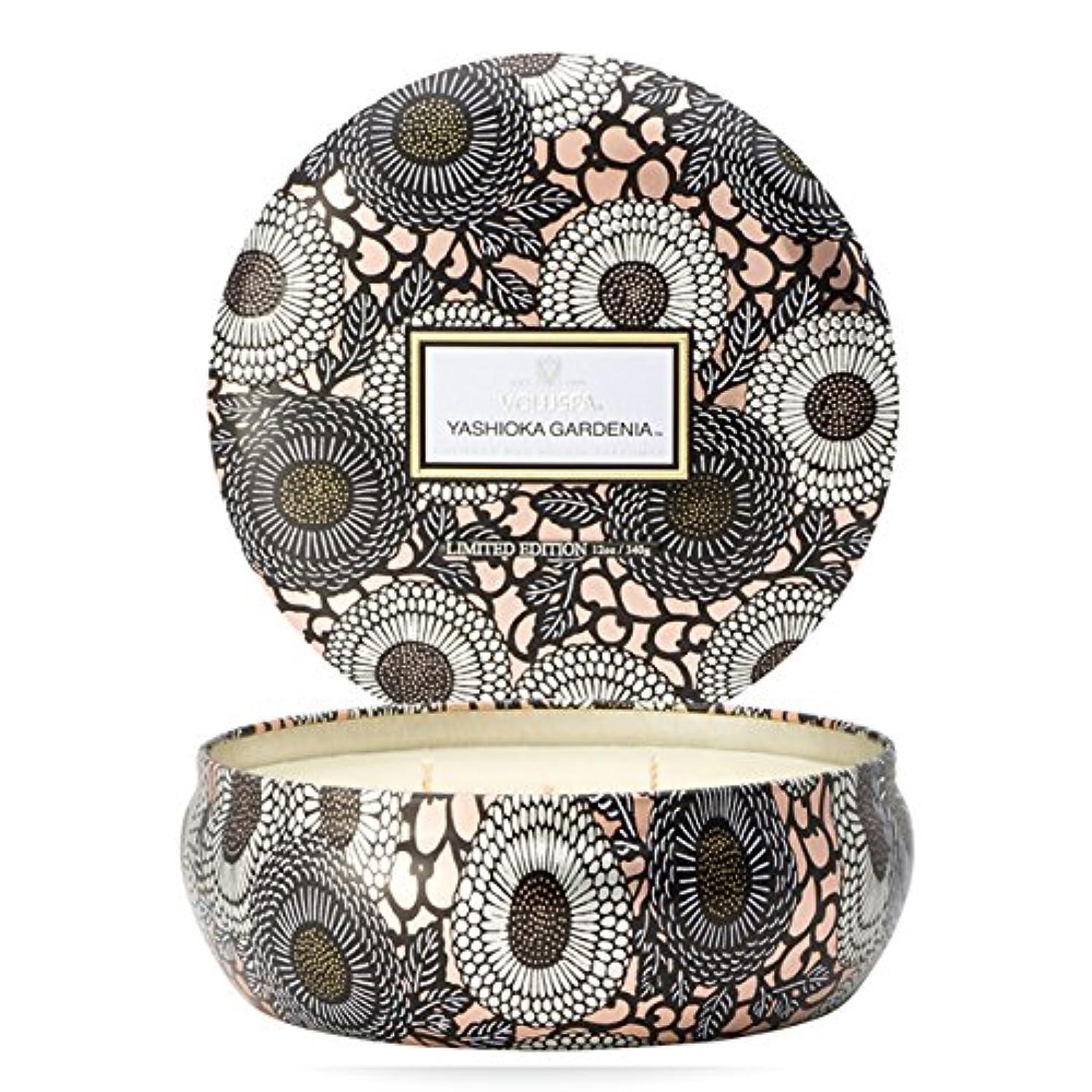 リール等々基礎Voluspa ボルスパ ジャポニカ リミテッド 3-Wick ティンキャンドル  ヤシオカガーデニア YASHIOKA GARDENIA JAPONICA Limited 3-ウィック Tin Glass Candle