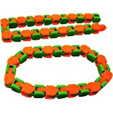 Wacky Tracks Snap and Click Fidget Toys for Sensory - Snake Puzzles, Assorted Colors Colorful Puzzle Sensory Fidget Toys Stre