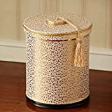 LJ ゴミ箱はダブルレザーゴミ箱ができますステンレス鋼は10L円筒ゴミ箱ファッションアイデアリビングルームベッドルームキッチンバスルームストレージバレル ( サイズ さいず : With cover )