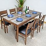 ダイニングテーブルセット 幅165 ダイニング7点セット 6人用 ウォルナット無垢 北欧 食卓セット ASA-263-F
