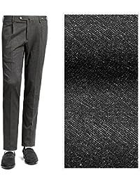 PT01 ピーティーゼロウーノ / 【国内正規品】 18-19AW!ストレッチテクノジャージー1プリーツパンツ『TRAVELLER(EVO FIT)』 (チャコールグレー) メンズ