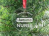 Best CustomGiftsNow CNAS - 世界で最も素晴らしいNurse–クリアアクリルクリスマスオーナメント–Great Gift for a CNA、RN、LPNナース、看護学生または授乳Graduate Review