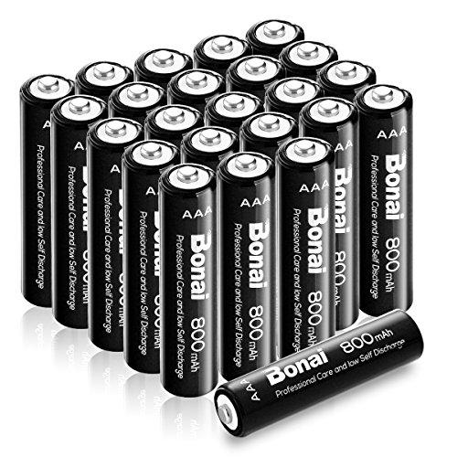Bonai 単4形 充電池 充電式ニッケル水素電池 24個パック PSE/CEマーキング取得 UL認証済み(高容量800mAh 約1200回使用可能)