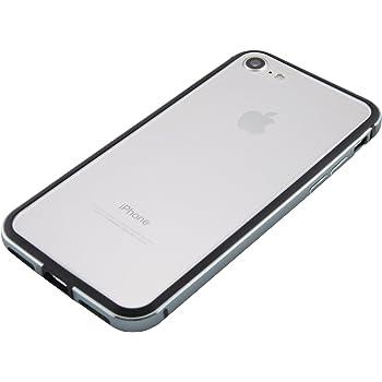 047b4b0f53 iPhone 8 / iPhone 7 アルミバンパー [ 衝撃吸収 2重構造 電波干渉無し ][ ワイヤレス充電 対応 ][ 簡単脱着 ネジ不要 ]  [ ストラップホール ] アイフォン ケース, ...