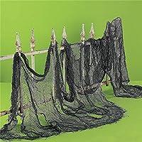 zytree ( TM )ハロウィンデコレーション装飾オーガンザ薄手のガーゼ要素糸ロールブラックとホワイトガーゼAtmosphereレンダリングgi874550 ブラック Z-32500855477-KDB-Decoration-black