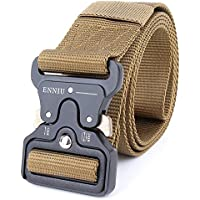 "Tactical Belt 1.75"" Tactical Heavy Duty Waist Belt Quick-Release Military Style Shooters Nylon Belts with Metal Buckle"