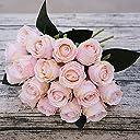 ACHICOO 人工バラ 花束 18個/セット 花 結婚式 装飾 写真 小道具 赤