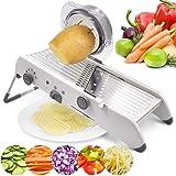 18 Types Adjustable Mandoline Slicer Stainless Steel Manual Cutter Vegetable Grater Julienne Slicer Fruit Waffle Kitchen Pota