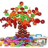 雪の花びら 立体パズル ブロック ゲーム 積み木 子供おもちゃ 女の子/男の子 プレゼント収納ケース付き 500個セット