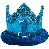 Plush Blue 1st Birthday Crown by DesignWare [並行輸入品]
