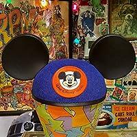 USA ディズニー ワールド 限定 ミッキーマウス イヤー ハット キャップ ブルー MICKEY MOUSE 耳付き 帽子 Disney World ディズニーランド