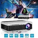 HD LED LCD Video Projector WXGA High Definition Home Theater Movie Projectors Support 1080P HDMI USB VGA AV RCA Audio Built i