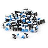uxcell a14061000ux0423 5 6 Pin Square 7mmx7mm Momentary DPDT Mini Push Button Switch (Pack of 55)