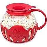 Ecolution Original Microwave Micro-Pop Popcorn Popper Borosilicate Glass, 3-in-1 Silicone Lid, Dishwasher Safe, BPA Free, 3 Q