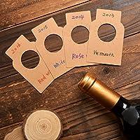 クラフト紙 ワイン用 ボトル タグ ワインセラーラベル 200枚入り