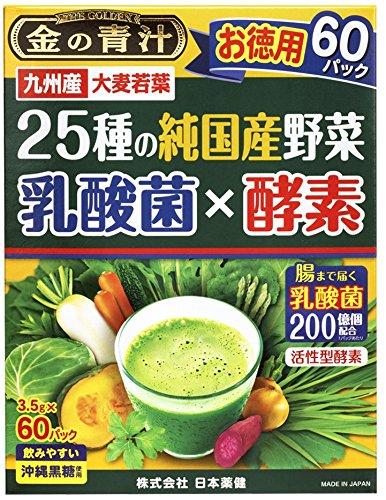 日本薬健 25種の純国産野菜 乳酸菌×酵素 60包