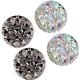 Prettyia 2 pairs Magnetic Hijab Pins Muslim Headscarf Brooch Shawl Scarf Pins - Crystal Brooch Clasp Buttons