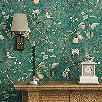モダンミニマリスト壁紙不織布木パターンスタイルリビングルームホームカフェバーレストラン衣料品店装飾, green