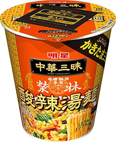 明星 中華三昧タテ型ビッグ 赤坂榮林 酸辣湯麺 93g×12個