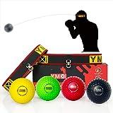 YMX BOXING Ultimate Reflex Ball Set - 4 React Reflex Ball Plus 2 Adjustable Headband, Great for Reflex, Timing, Accuracy, Foc
