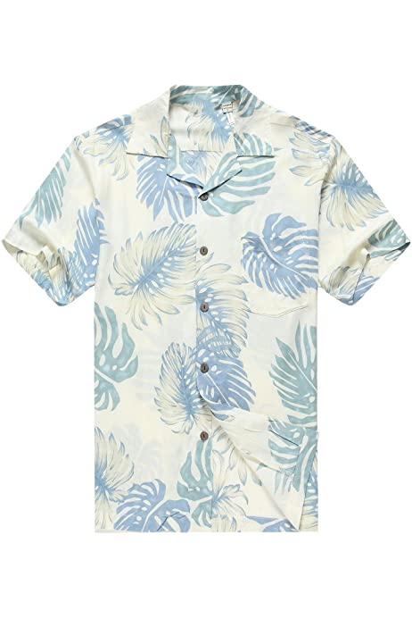 Men's Hawaiian Shirt Aloha Shirt XS Raflessia Cream: Amazon.com.au ...