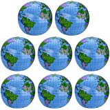 8 Pack Inflatable Globe PVC World Globe Inflatable Earth Beach Ball for Beach Playing or Teaching, 41cm