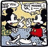UCHINO Disney シェニール タオルハンカチ 25×25cm コミック (ミッキー&ミニー) ブラック WV25252 Bk