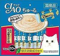 (まとめ買い)いなばペットフード CIAO ちゅ~る かつお かつお節ミックス味 14g×20本入り SC-130 猫用 【×4】