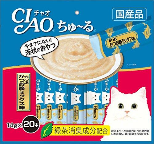 CIAOちゅーる チャオ (CIAO) ちゅ~る かつおかつお節ミックス味 14g 20本