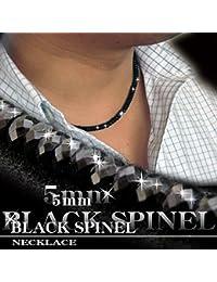 ブラックスピネル ネックレス 5mm グレードAAA メンズ オシャレ 重ねづけ アジャスターあり (9130円税込)