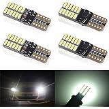 KaiDengZhe 4pcs White T10 W5W 168 194 501 Super Bright Wedge LED Car Bulbs Lamp 4014 SMD 24 LED CanBus Error Free 5W 12V LED