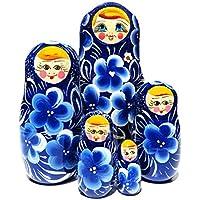 Vesna Blue 5 Piece Russian Babushka Doll by GreatRussianGifts [並行輸入品]