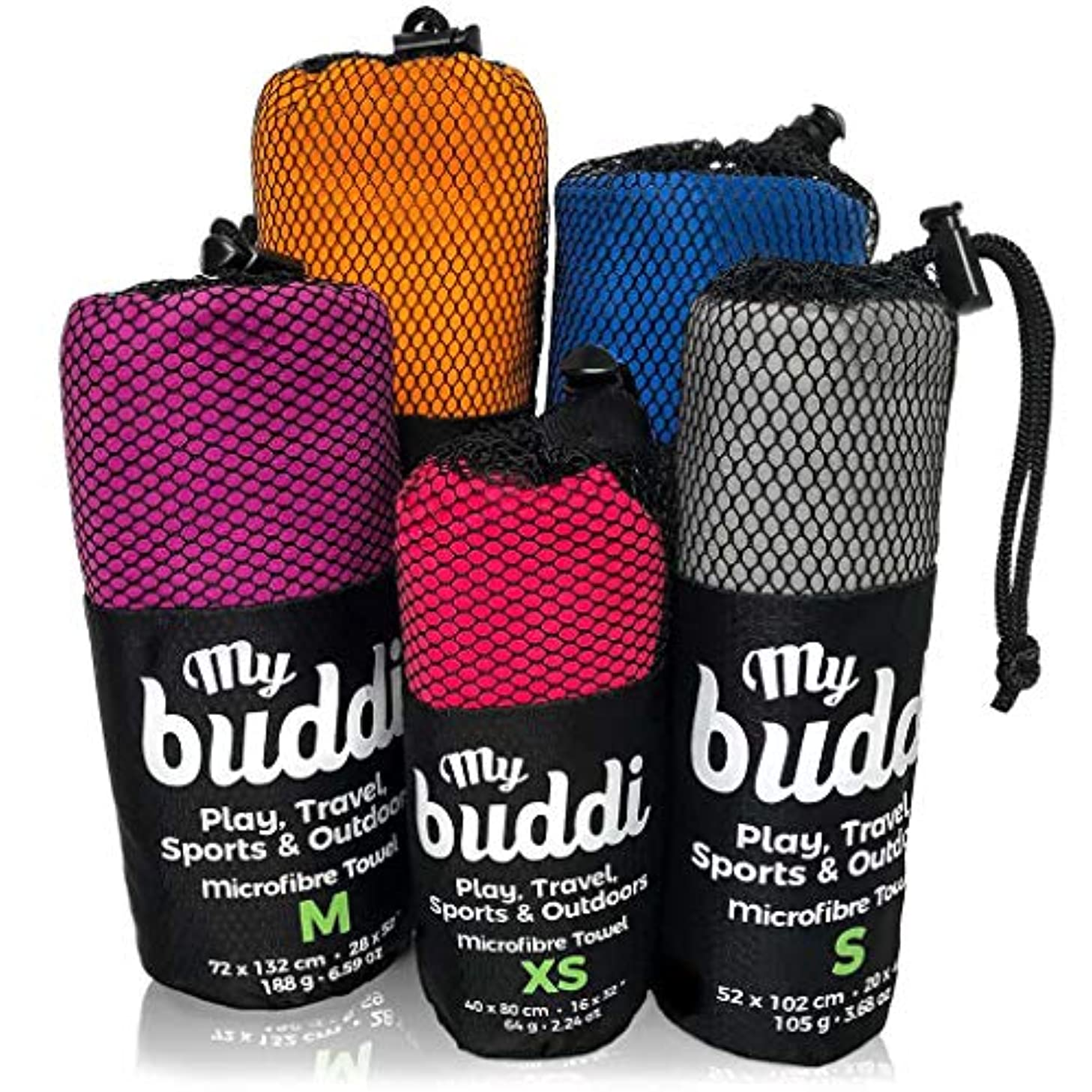 へこみセッションいわゆるマイクロファイバータオルby mybuddi – 品質スポーツ&トラベルタオル。ACEビーチタオルすぎます。ヨガの、ワークアウト、キャンプ、アウトドア。uBerライト&吸収性。xs-s-m-l-xl – レッド、オレンジ、パープル、ブルー、グレー X-Large (25 x 70 inches) グレー