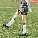 ニーハイソックス 3ラインボーダー 通学 レディース 2足組 ヒープソックス 2way 靴下 サッカー ゴルフ スポーツ 綿 無地 美脚 着痩せ ホワイト