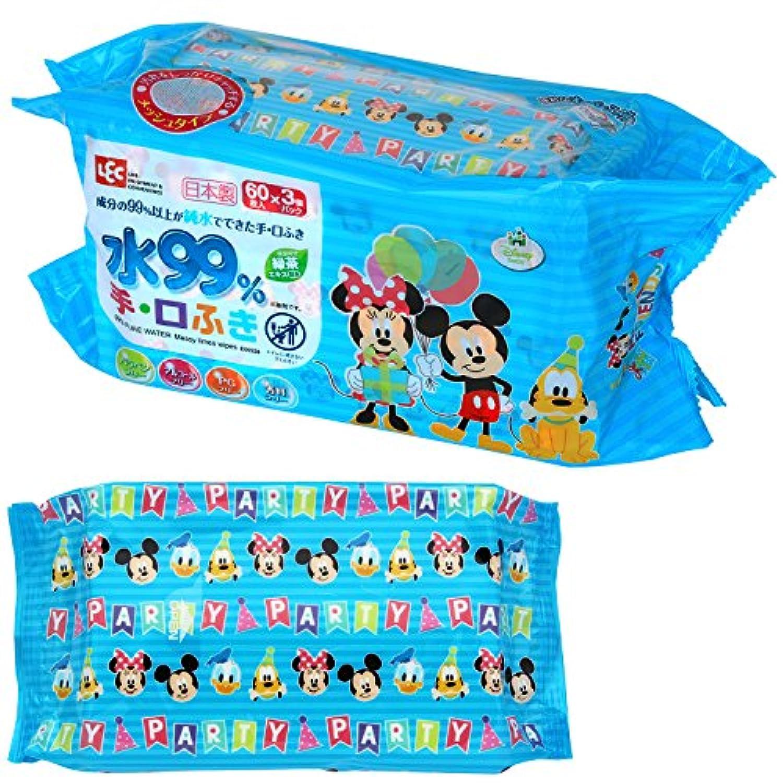 ミッキー & フレンズ 純水 99% 手?くちふき 60枚入×3個 (日本製) パラベンフリー