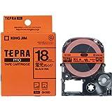 キングジム テープカートリッジ テプラPRO 18mm SK18D 蛍光オレンジ
