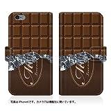 Evis Club 【iPhone 7 (iPhone7)】 手帳型 スリム 薄型 ステッチ [ 板チョコ スゥィート 2415 ] ストラップホール カード収納