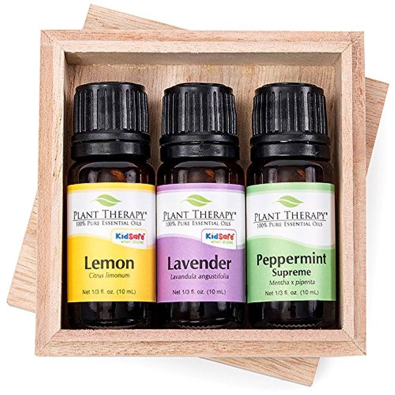 粘性の保存震えるレモン、ラベンダーやペパーミントセット10ミリリットル(1/3オンス)各