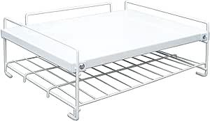 平安伸銅工業 レンジ上ラック 脚部の耐熱設計 棚2段 ホワイト 耐荷重上段7kg下段3kg RD-1