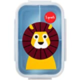 3 Sprouts Lunch Bento Box - Lion, Blue