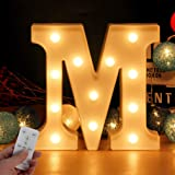 Newly Upgrade Led Letters Numbers Lights Battery Powered,26 Alphabet & Arabic Numerals 0-9 Warm White Decorative Marquee Lamp