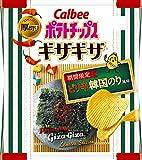 カルビー ポテトチップスギザギザ ピリ辛韓国のり風味 58g ×12袋