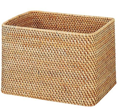 RoomClip商品情報 - 無印良品 重なるラタン長方形バスケット 幅36×奥行26cm (大)