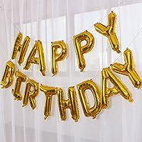 誕生日 飾り付け 風船 HAPPY BIRTHDAY バルーン パーティー 誕生日 記念日 装飾 バルーン(ゴールド)J010