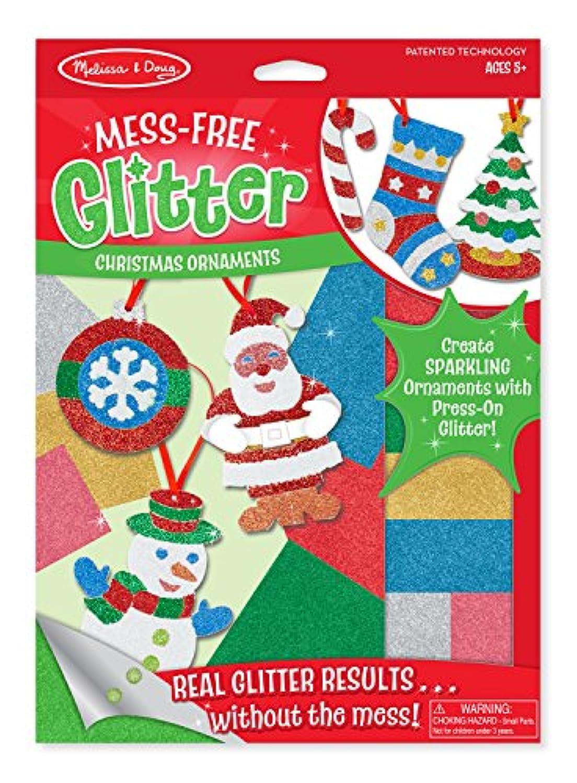 Melissa & Doug mess-freeグリッタークリスマス装飾 – 6 ornaments , 7キラキラシート