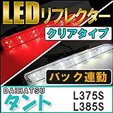 タント/タントカスタム 【L375S/385S】DAIHATSU LEDリフレクター 【クリアレンズ】 左右2個セット 【ダイハツ Tanto】